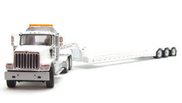 1/50 INTERNATIONAL HX520 with XL120 LOW-PROFILE TRAILER (WHITE)【71015】