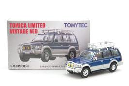 1/64 LV-N206a 三菱パジェロ ミッドルーフワイドVR(オプション装着車)94年式(青/銀)