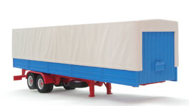 1/43 TRUCK Trailer with Canvas cover - Grey/Blue