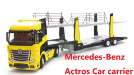 1/64 Mercedes-Benz Actros (Yellow w/Car carrrier)