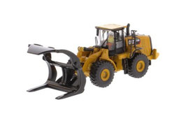 1/87 CAT 972M Whell Loader with LOG FORK【85950】