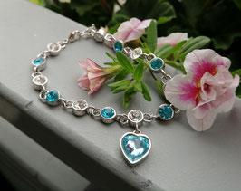 Romantischer Armband mit Herz Anhänger