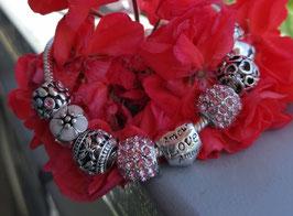 Blumen Charm-Armband