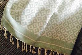 Fouta tunisienne motifs petits losanges