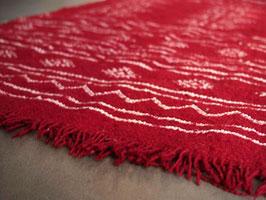 Petit tapis berbère rouge en laine