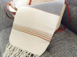 Fouta tunisienne en coton et soie