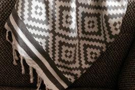 Fouta tunisienne motifs losanges