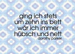 Dorothy Parker - Postkarte