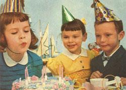 Geburtstagsparty - Postkarte