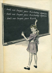 I Shall not forget Your Birthday Again - Postkarte