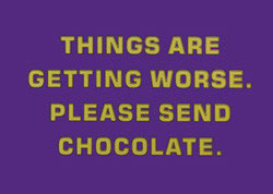Please Send Chocolate - Postkarte
