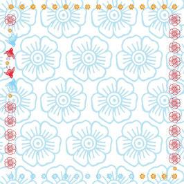 Mina blau - Tischdecke