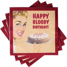 Happy Bloody Birthday - Servietten