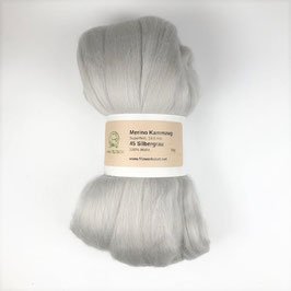45 Silbergrau Merino 19.5mic