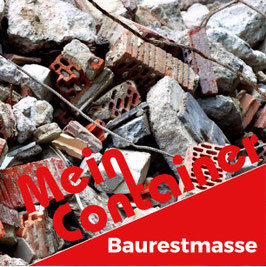 Baurestmasse-Container 7 m³