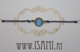klein - vergoldet meeresblau