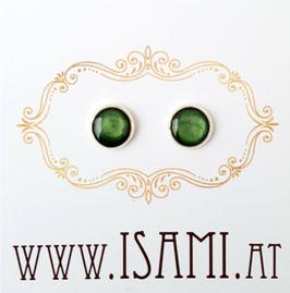 ohrringe - klein - dunkelgrün