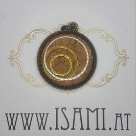 Anhänger - Baum des Lebens - goldene Kreise
