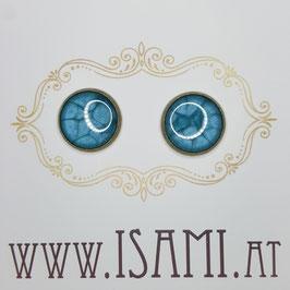 ohrringe - groß - meeresblau