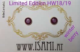 HW18/19 Ohrstecker - Ø 6mm - rosévergoldete Fassung