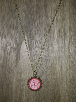 anhänger - blume - pink
