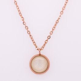 Halskette - Ø 8mm - rosé vergoldet