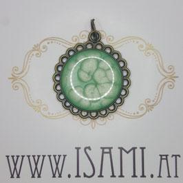anhänger - blume - mandelgrün