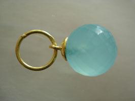 Calcedon-Anhänger - himmlisch meerblau