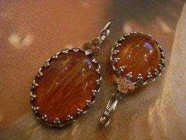 Ohrringe bernstein-silber