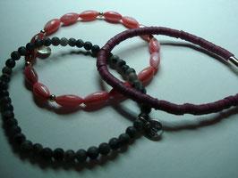 SET - 3 Armbänder auf Elastikband für Erwachsene (A15)