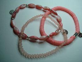 SET - 3 Armbänder auf Elastikband für Erwachsene (A8)