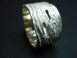 LOCHSTRUKTUR Fingerring 925er Sterling-Silber