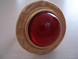 Rot heller Fingerring Dots-Form