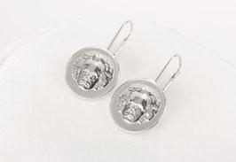Beethovens Schönste - Ohrhänger Silber rhodiniert glanz