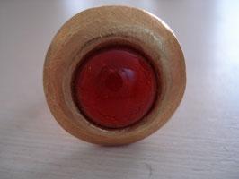 Rot heller Fingerring kleine Silvereye-Form