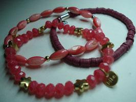 SET - 3 Armbänder auf Elastikband für Erwachsene (A5)