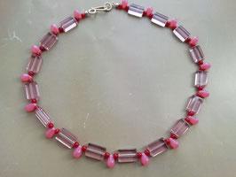 Tropfende Rechtecke in Pink-Rosa