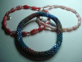 SET - 3 Armbänder auf Elastikband für Erwachsene (A4)