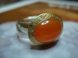 ORANGES FEUER - Karneol Ring