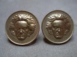Beethovens Schönste - Ohrstecker Silber vergoldet matt pur