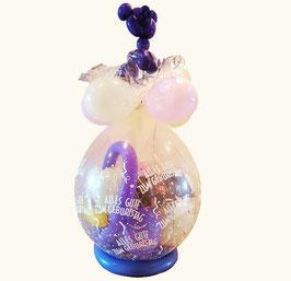 """Geschenkballon / Verpackungsballon """"Alles Gute zum Geburtstag"""" mit Lufballon Katze"""