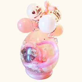 Geschenkballon / Verpackungsballon Happy Birthday mit Hund