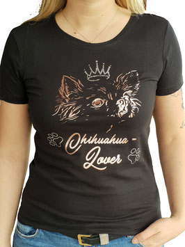 T-Shirt Chihuahua-Lover mit Strassakzenten