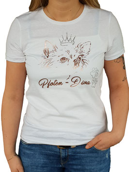 T-Shirt Pfoten-Diva mit Strassakzenten