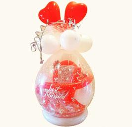 Geschenkballon / Verpackungsballon Just Married