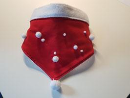 Hundehalstuch für den Winter rot/weiß