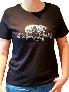 T-Shirt mit Strassmotiv Aussie / Australien Shepherd
