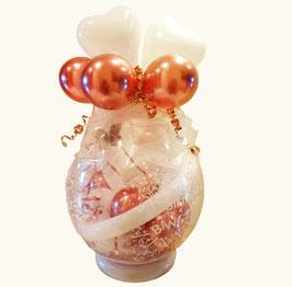 Weihnachtlicher Geschenkballon / Verpackungsballon roségold