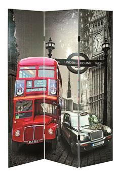 "Raumteiler / Paravent im Design ""London"""