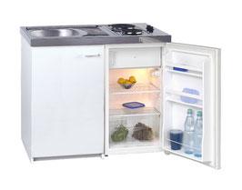 Kompaktküche Singleküche weiß